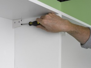adjusting kitchen wall units