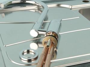 assembling a new kitchen tap