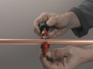 Marking position to cut copper pipe