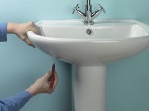 marking basin fixing holes
