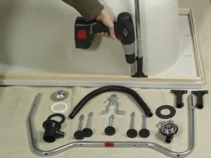 Assembling bath legs