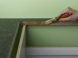 sealing cut edges on kitchen worktop