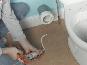 using silicone sealant with toilet