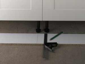 measuring kitchen plinth