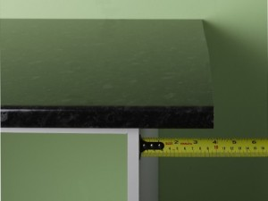 measuring kitchen worktop overlap