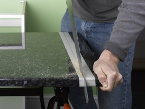 cutting kitchen worktop