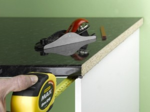 measuring kitchen worktop overhang