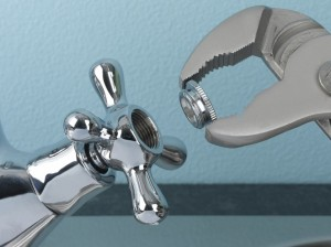 Fixing leaking bathroom taps
