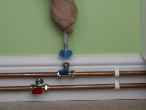 attaching dishwasher or washing machine cold supply pipe