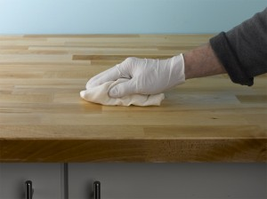 removing excess worktop oil