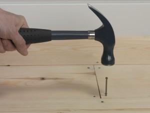 nailing down floorboard