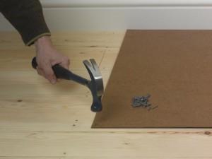 Fixing hardboard