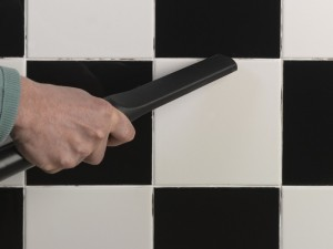 removing dust from tile joints