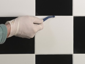 using grout shaper