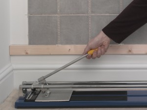using tile cutter