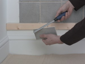 filing tile edge