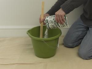 mixing wallpaper paste