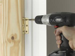 fixing hinge to door lining