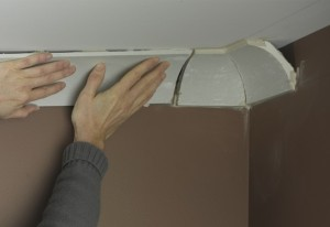 how to cut polystyrene coving corners