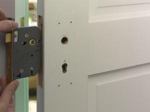 fitting new lock