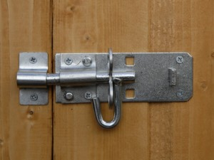 securing shed bolt