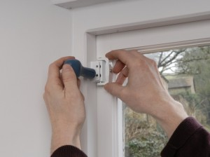marking fixing points for casement window lock