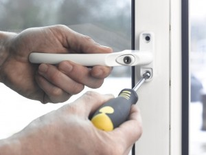 securing upvc window fastener in place
