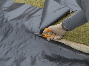 fitting weedproof membrane