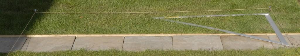 measuring pergola position