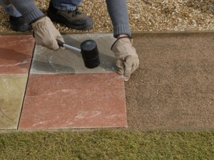 Laying A Paving Slab Path