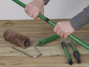 Using a decking roller kit