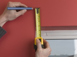 Measure above window recess