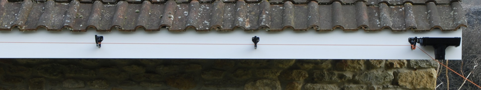 Gutter clips in place