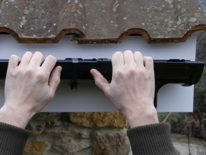clipping gutter lengths in place