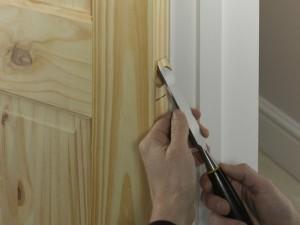 chisel away wood for door closer plate