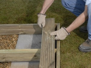 how to build a decking frame on soil