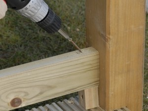 fixing deck handrail support