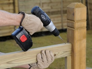 fixing top support for deck handrail