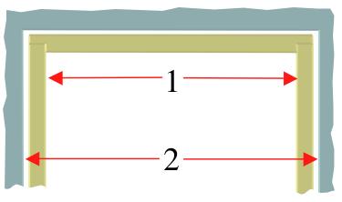 Door lining sizes