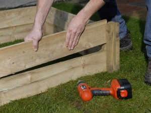 Slotting together sections of raised garden bed
