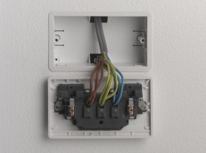 three cables connected at the socket