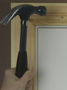 Using nails for architrave