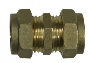 Brass compression joint