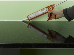 sealing back edge of kitchen worktop