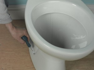 marking toilet fixing positions