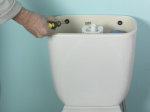 fixing toilet cistern in place