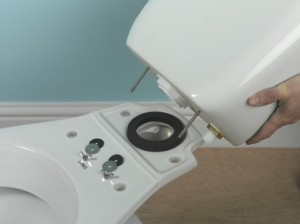 positioning close couple washer and cistern