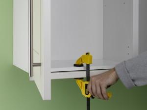 clamping kitchen pelmet for fixing
