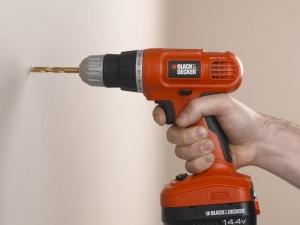 Drilling into plasterboard
