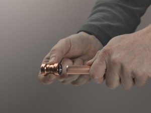 Using copper push fit joint